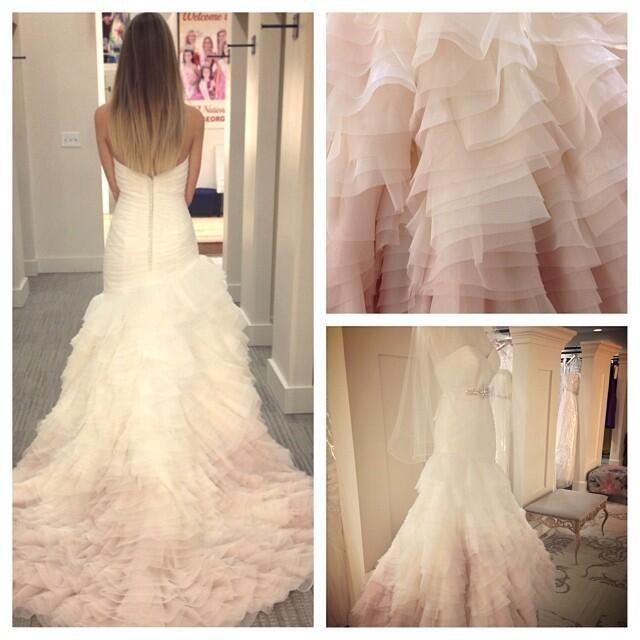 Mori lee 5101 wedding dress on sale 50 off for Mori lee pink wedding dress