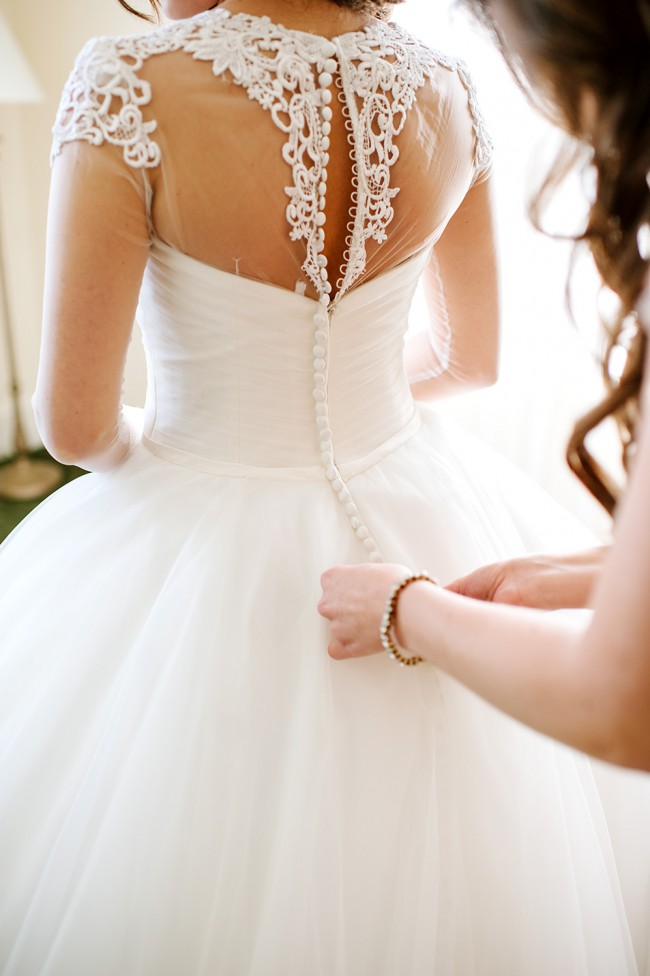 Allure bridals pre owned wedding dress on sale 76 off for Wedding dress with buttons all the way down