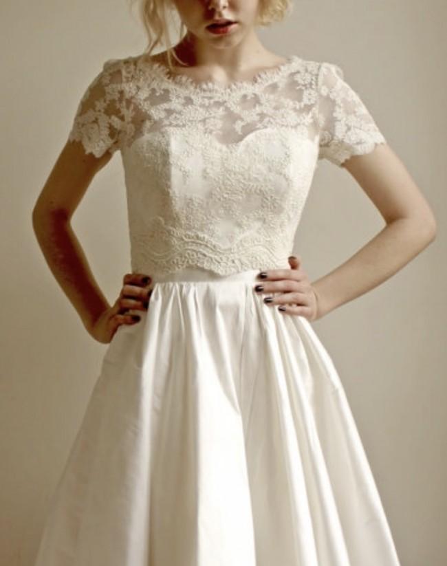 Leanne Marshall Elandra Lace Topper New Wedding Dress On Sale 25