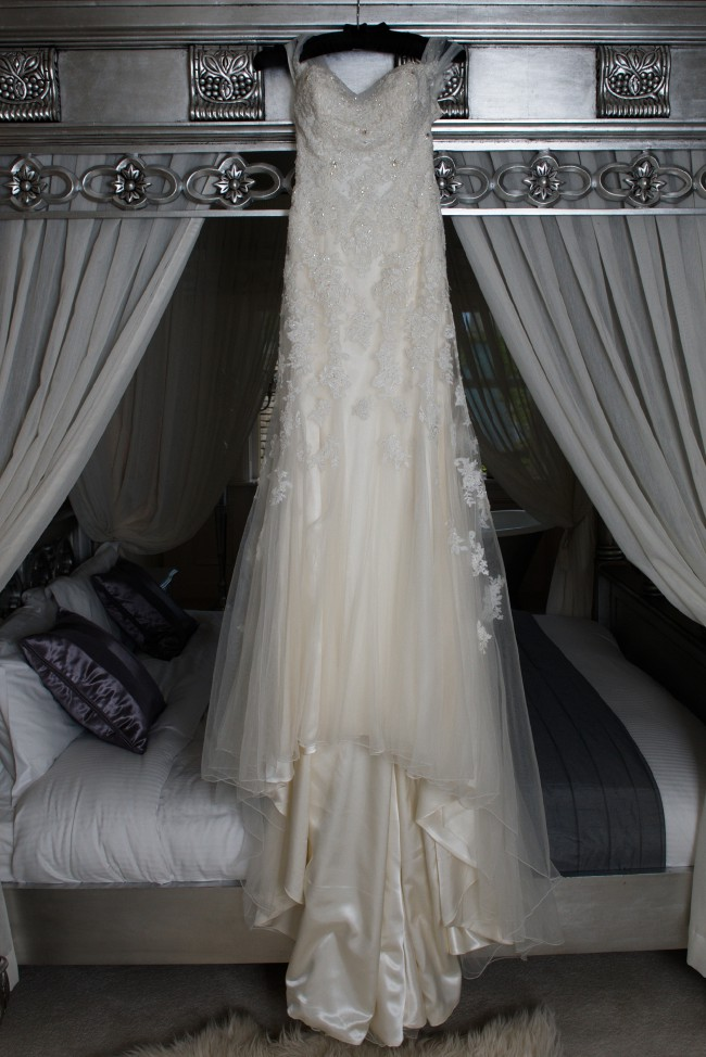 Sophia tolli jarita y11569 preowned wedding dress on sale for Wedding dress shadow box for sale