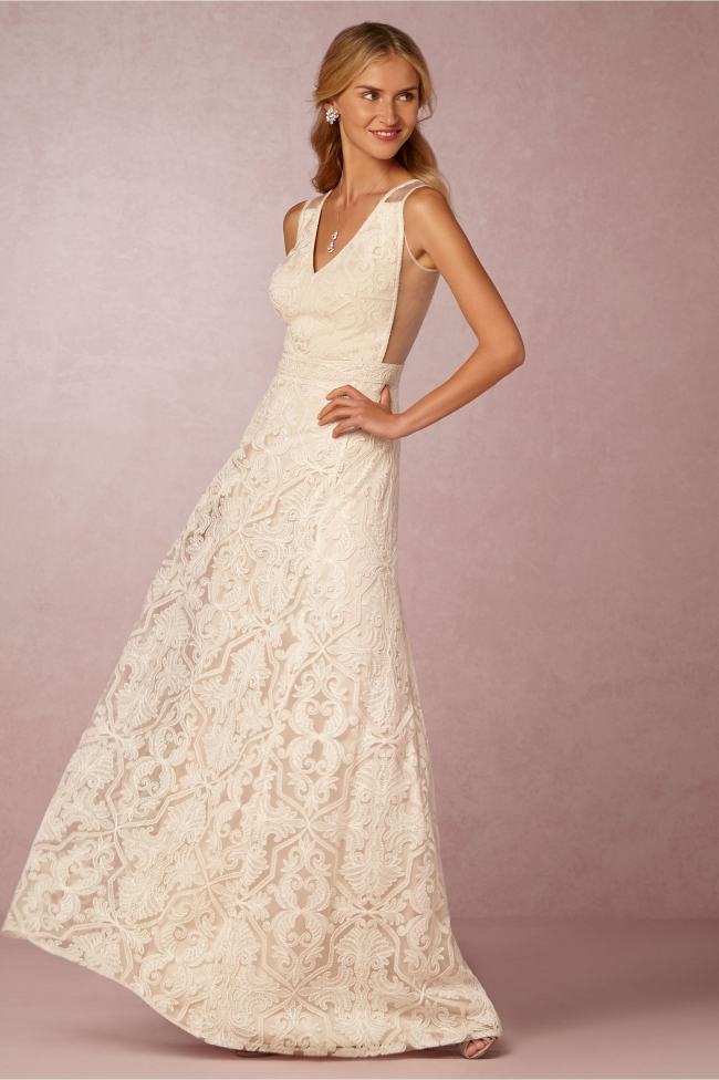 Tadashi Shoji BHLDN Pendleton New Wedding Dress on Sale 63% Off