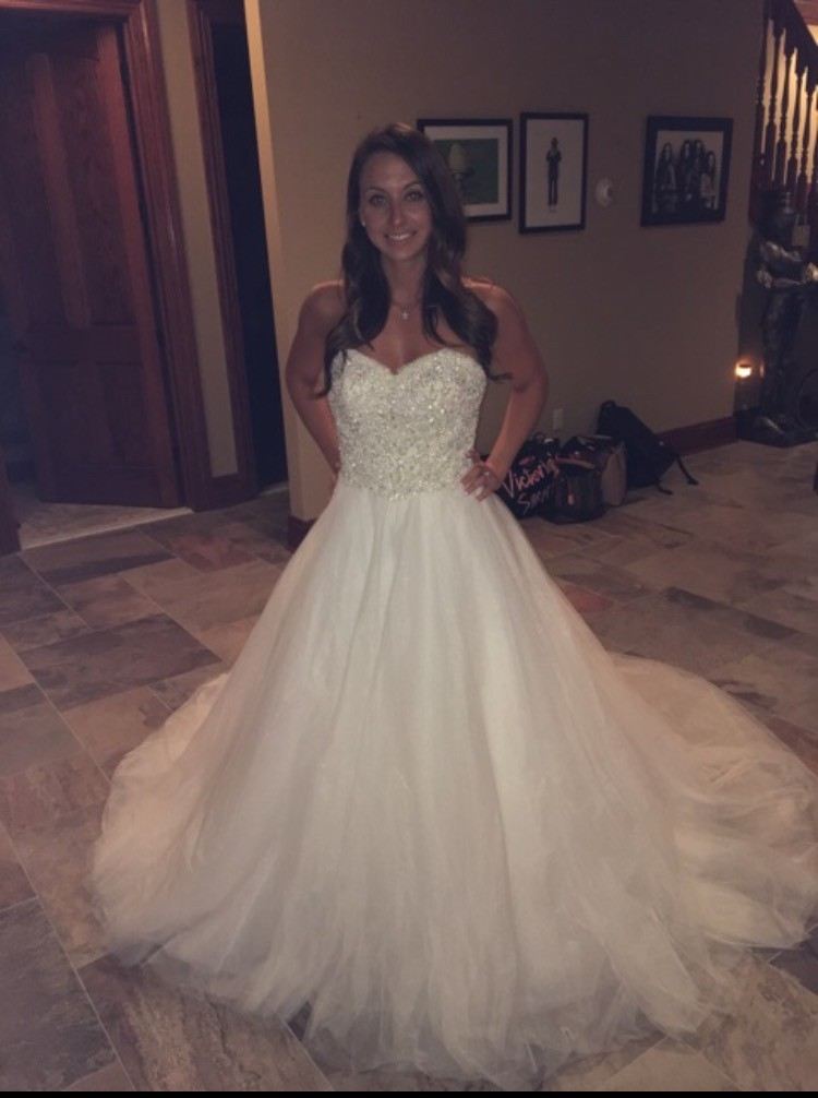 Matthew christopher sadie new wedding dress on sale 77 off for Matthew christopher wedding dress prices