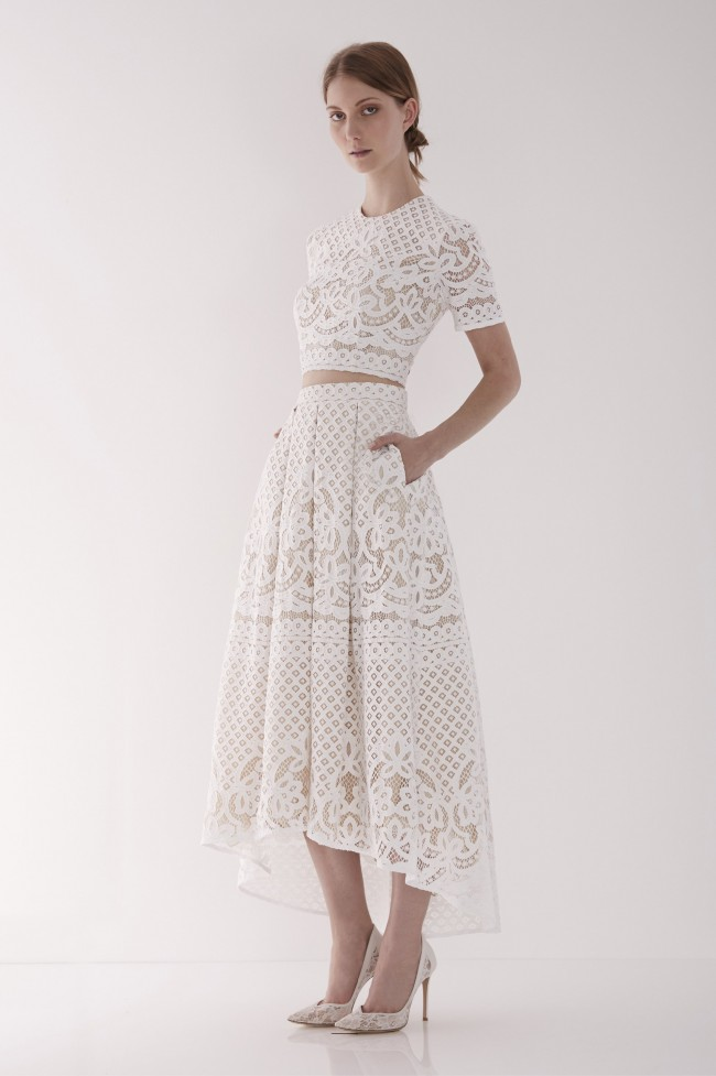 Lover The Label Libra Crop Top And Midi Skirt Wedding Dress On