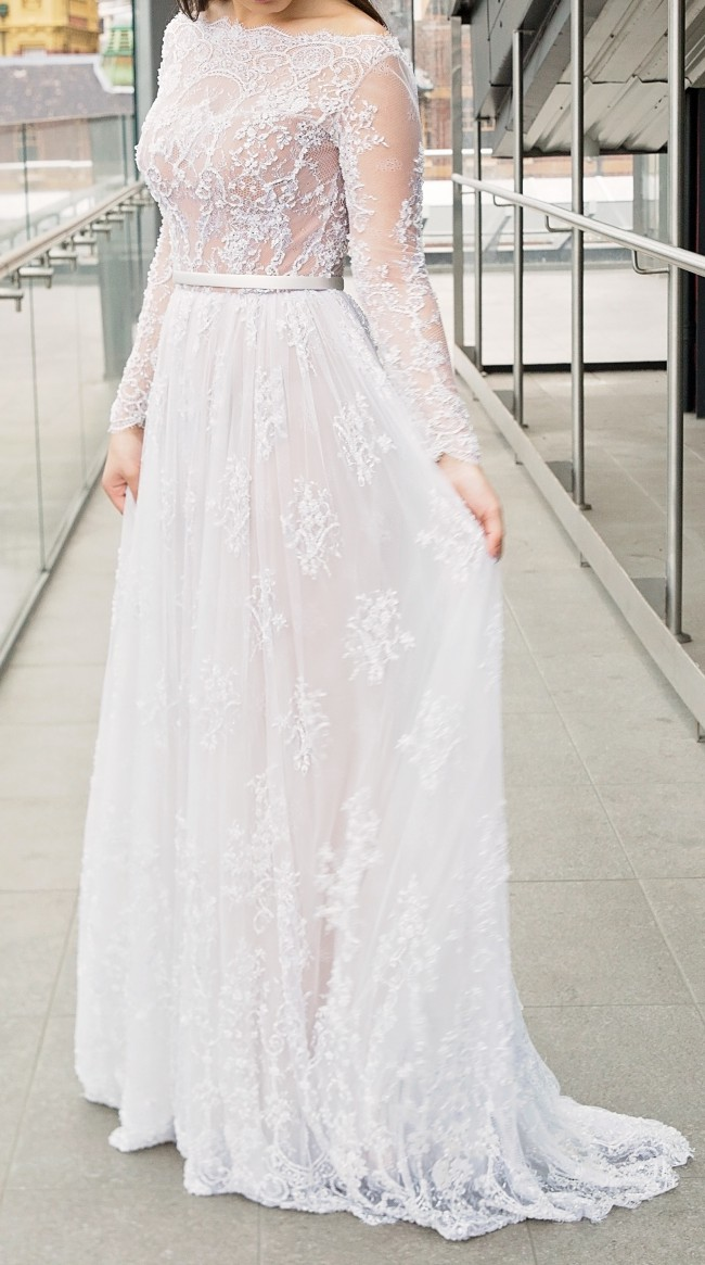 Paolo Sebastian Used Wedding Dress on Sale