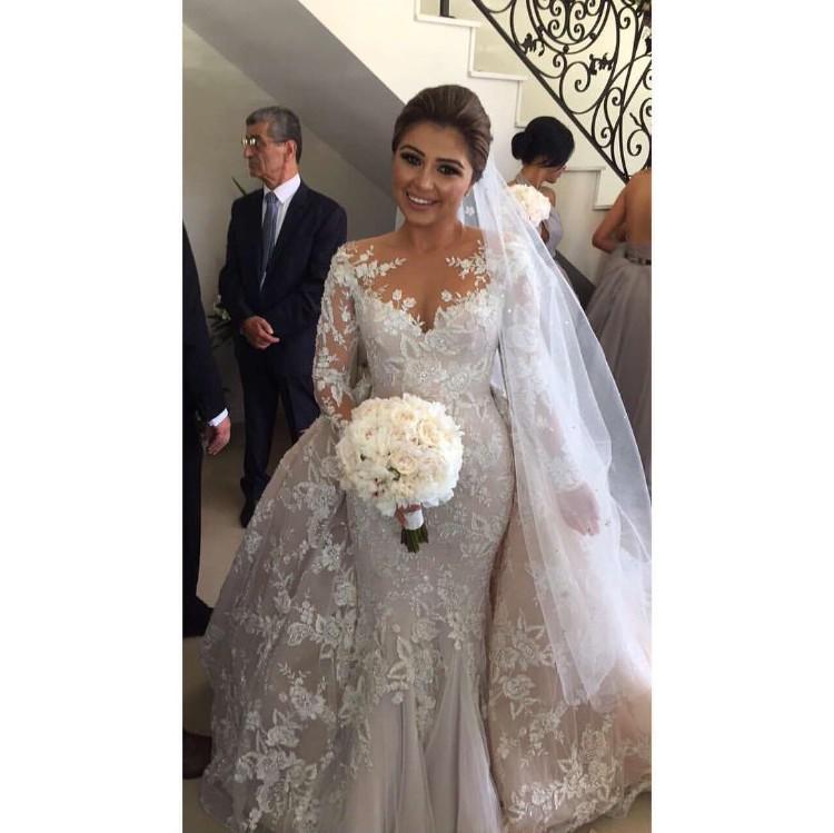 Steven Khalil Custom Made Second-Hand Wedding Dress on Sale 46% Off