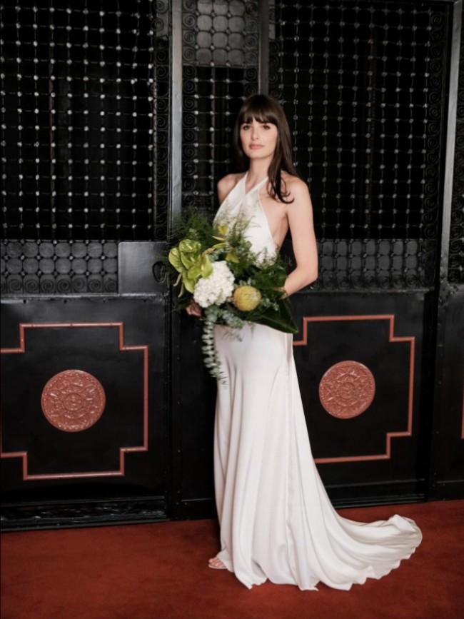 Michael Lo Sordo, Alexandra Gown in silk Crepe de Chine