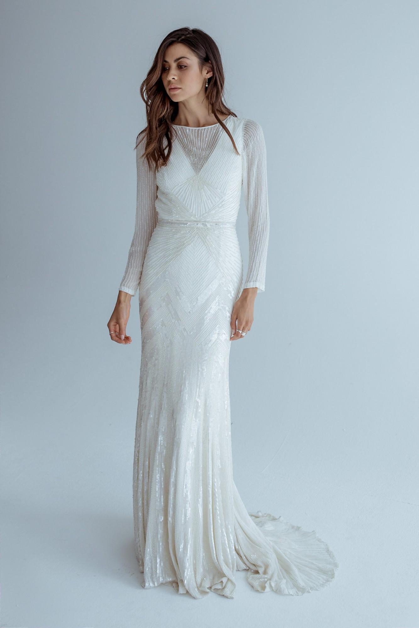 Karen Willis Holmes Cassie New Wedding Dress on Sale 37% Off