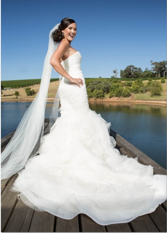 Vera Wang Gemma Wedding Dress on Sale 40% Off