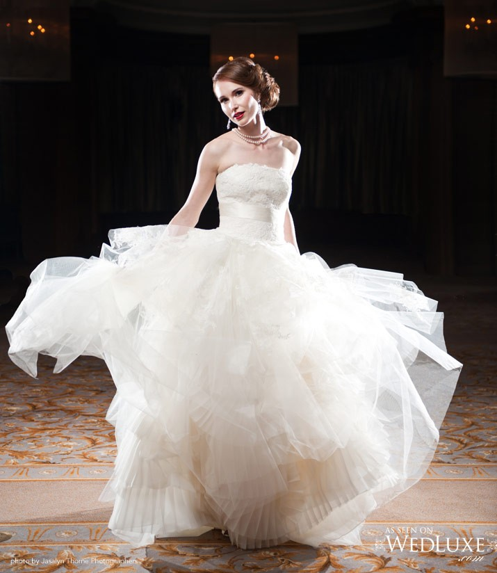 Vera wang eliza luxe collection second hand wedding dress for Second hand vera wang wedding dress