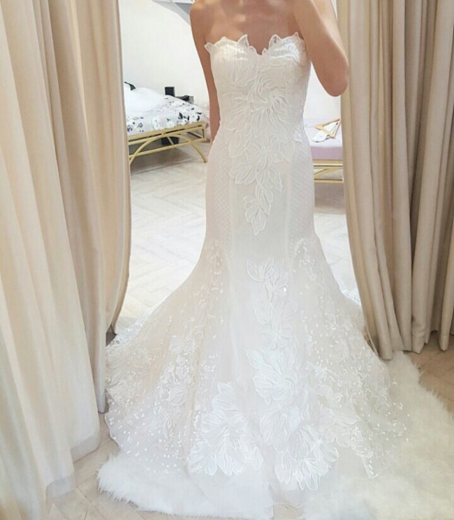 White Label Bridal Pearl Wedding Gown - Used Wedding Dresses ...