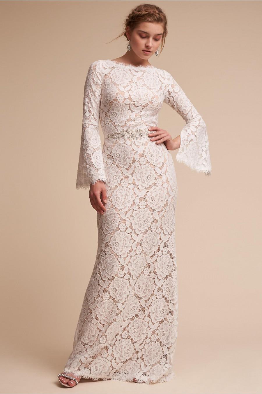 Boho Trending 30 Bell Sleeve Wedding Gowns