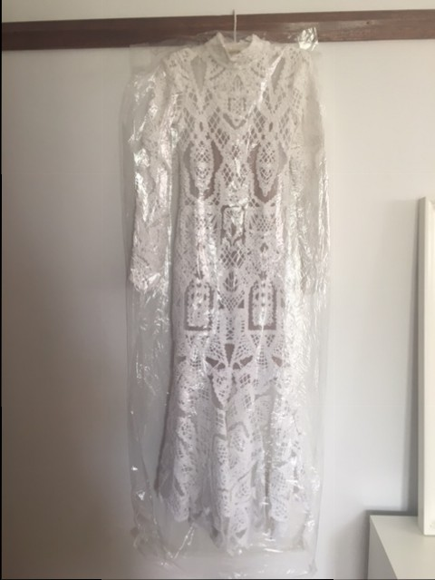 Jonathan Simkhai Lace Tower Gown Used Wedding Dress On