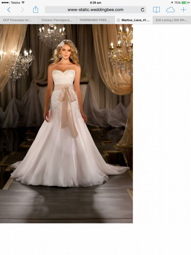 Martina Liana VIRGINIA ML411 Wedding Dress On Sale 71 Off