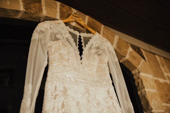 Melissa Sweet, Linear Lace Wedding Dress
