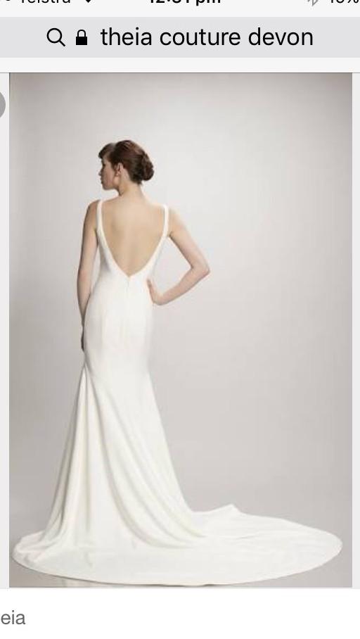 Theia Couture Devon Amp Petal Veil Wedding Dress On Sale