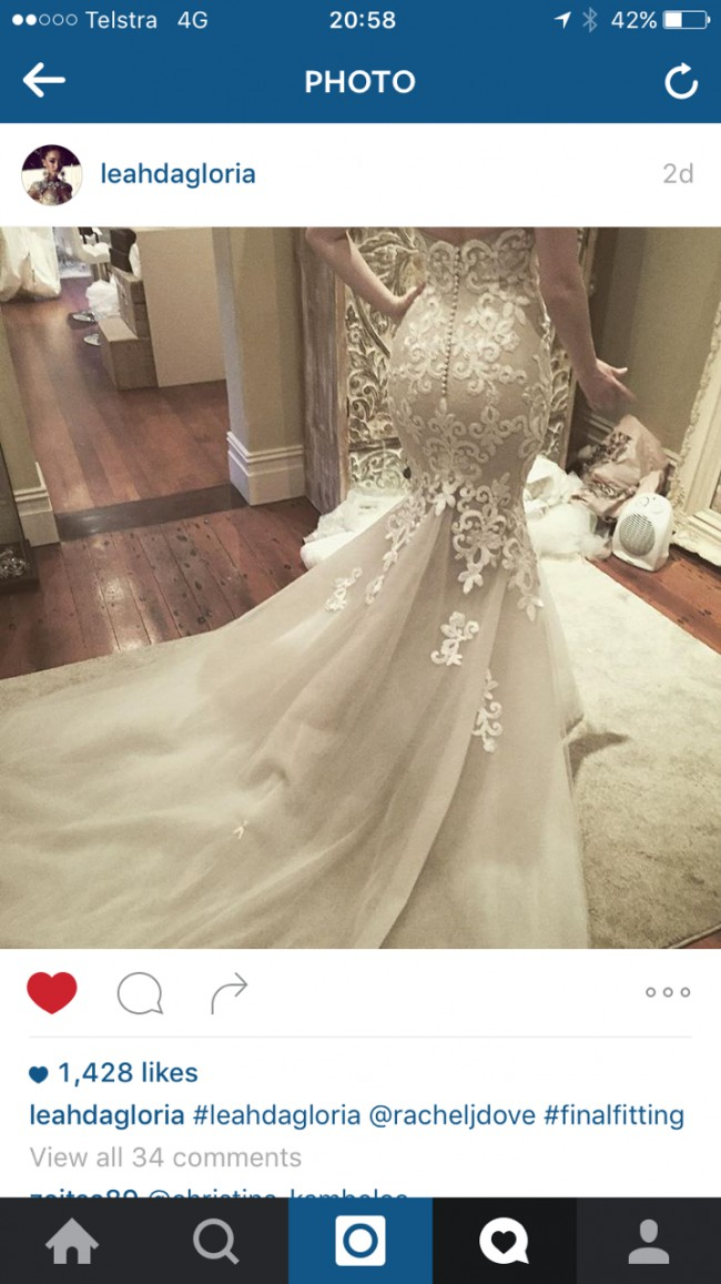 Leah da gloria couture dress preowned wedding dress on sale for Leah da gloria wedding dress cost