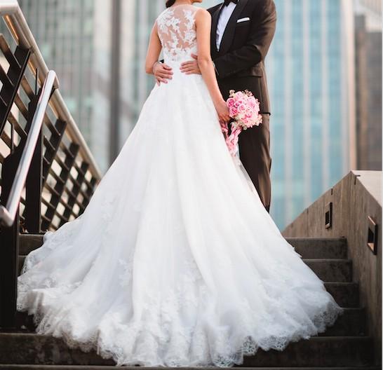 La Sposa Haiti - A-line Lace Appliqued Wedding Dress 2017 Sample ...