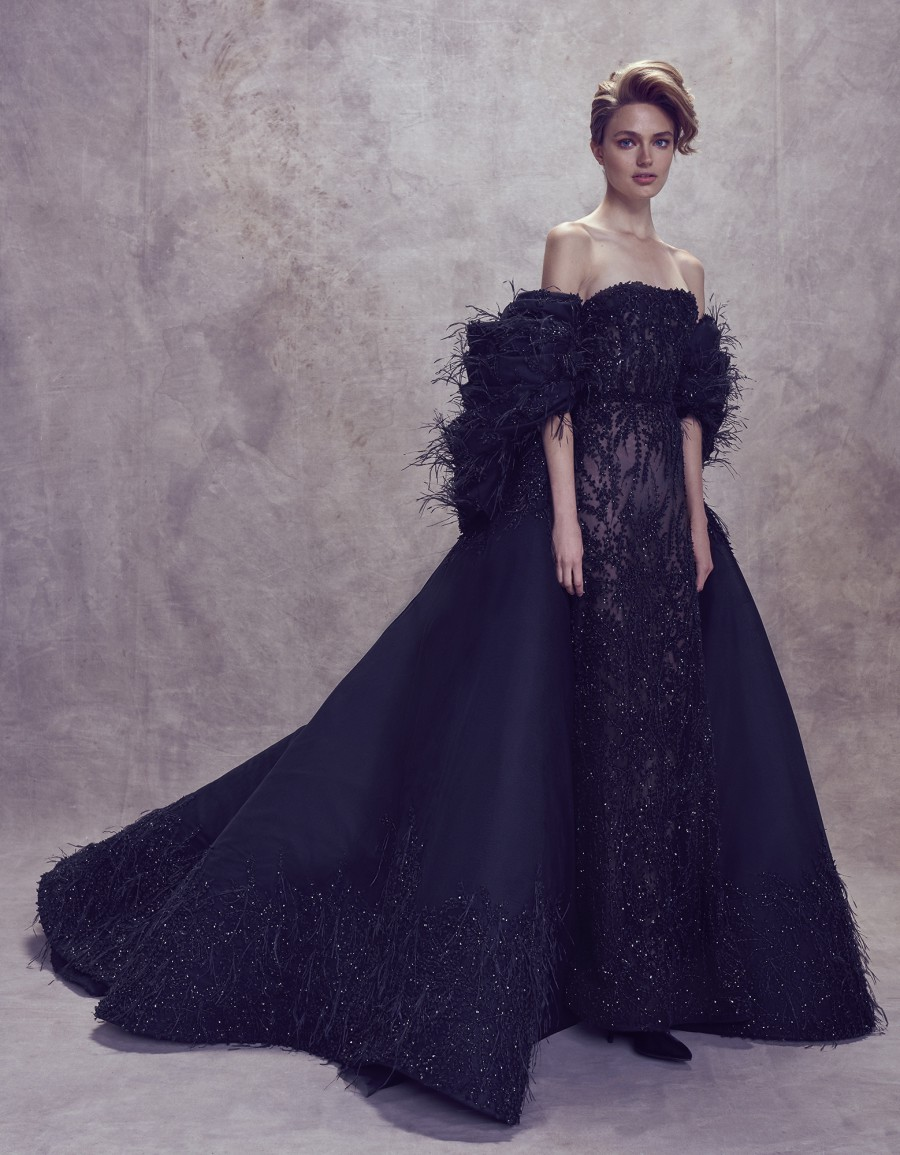 Edgy Elegance: 26 Black Wedding Gowns