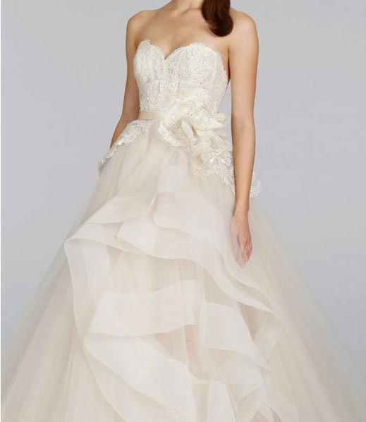 Lazaro 3413 pre owned wedding dress on sale 56 off for Lazaro wedding dress uk
