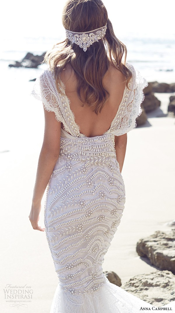 Anna campbell coco fit flare embellished preowned for Anna campbell wedding dress for sale
