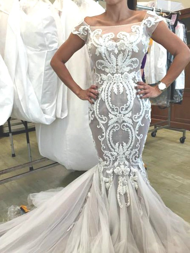Steven khalil custom made used wedding dress on sale 53 off for Steven khalil wedding dresses cost