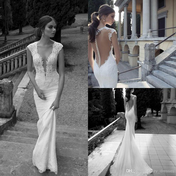 Berta, 14-20 Deep V Wedding Gown