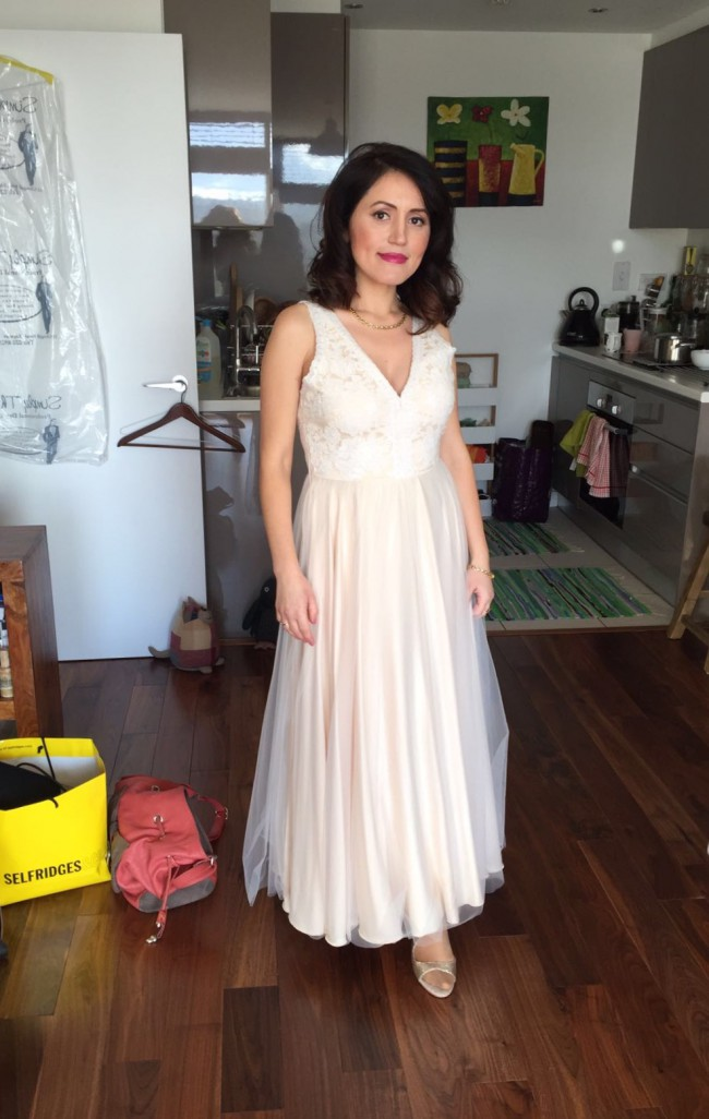 Catherine Deane Tamsin Gown Cream Preowned Wedding Dress on Sale ...