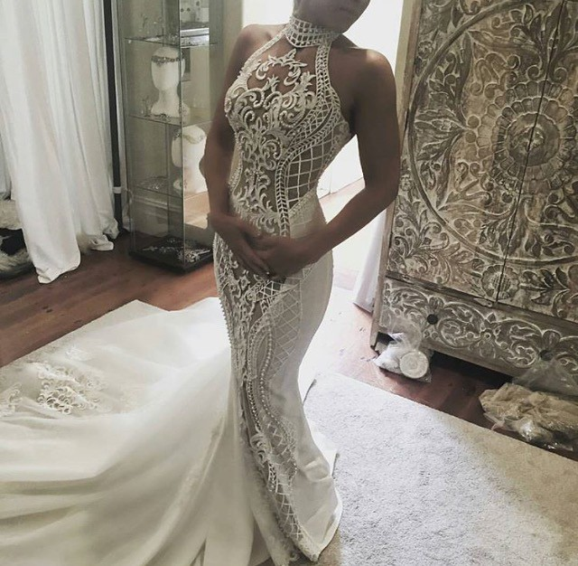 Leah da gloria custom second hand wedding dress on sale 49 for Leah da gloria wedding dress cost