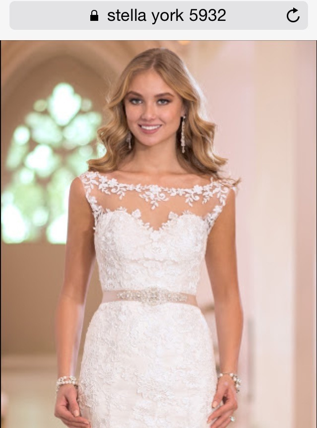 Stella york 5932 second hand wedding dress on sale 54 off for How much do stella york wedding dresses cost