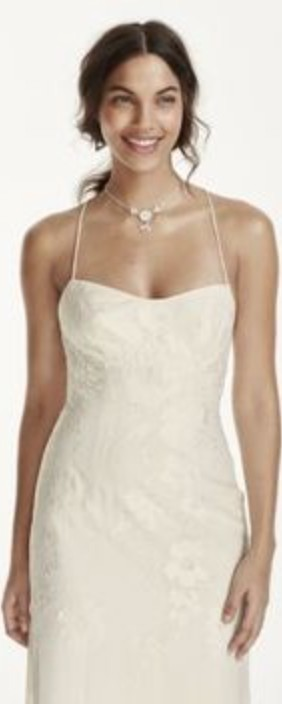 Galina Signature, David's Bridal, Lace Sheath w/Low Lace Up Back (KP