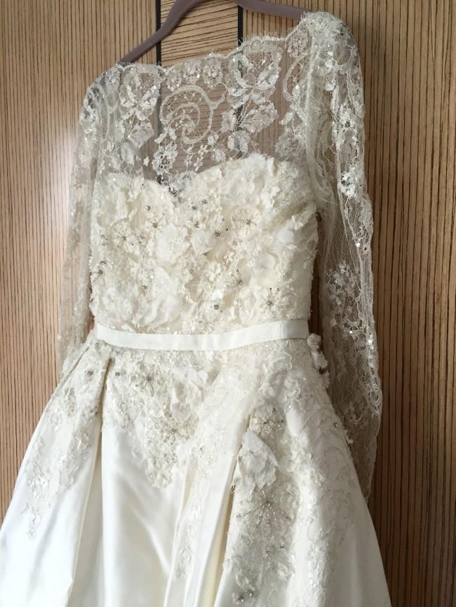 Elie saab monet by pronovias pre owned wedding dress on for Elie saab wedding dress for sale