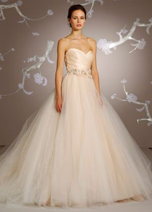 Lazaro 3108 blush pre owned wedding dress on sale 60 off junglespirit Image collections