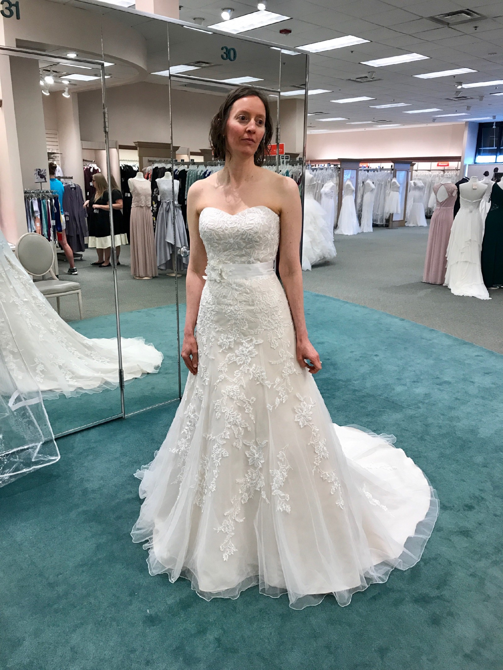 David\'s Bridal V3587 - New Wedding Dresses - Stillwhite